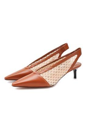 Комбинированные туфли Peppino | Фото №1