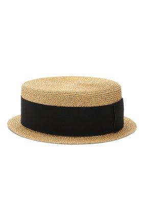Шляпа канотье Saint Laurent золотого цвета | Фото №2