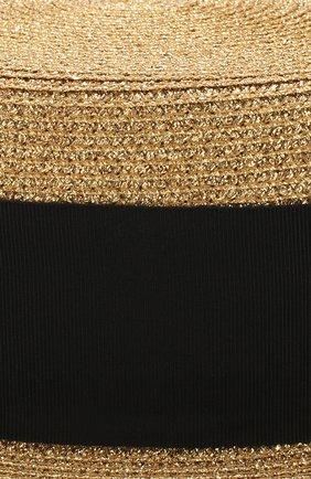 Шляпа канотье Saint Laurent золотого цвета | Фото №3