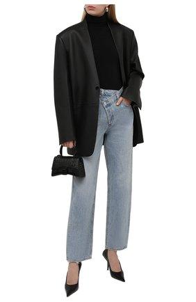 Женские джинсы свободного кроя AGOLDE голубого цвета, арт. A097-983 | Фото 2