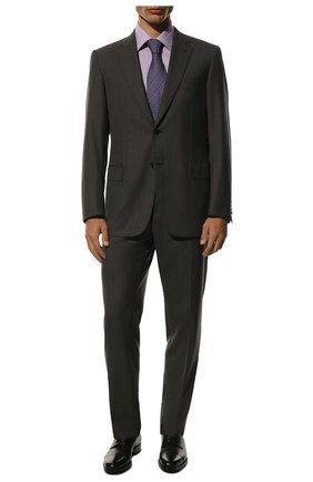 Мужские кожаные дерби TOM FORD темно-коричневого цвета, арт. J1005G-BET | Фото 2 (Статус проверки: Проверена категория, Проверено; Материал внутренний: Натуральная кожа; Стили: Классический)
