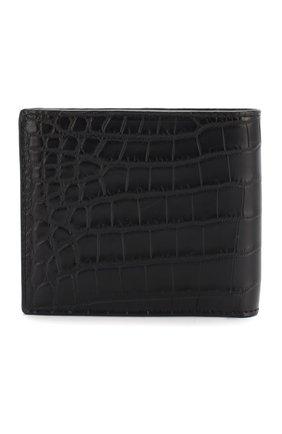 Мужской портмоне из кожи крокодила  BOTTEGA VENETA темно-синего цвета, арт. 113993/V9023/CNIL | Фото 1