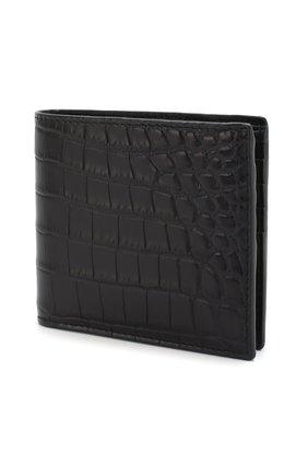 Мужской портмоне из кожи крокодила  BOTTEGA VENETA темно-синего цвета, арт. 113993/V9023/CNIL | Фото 2