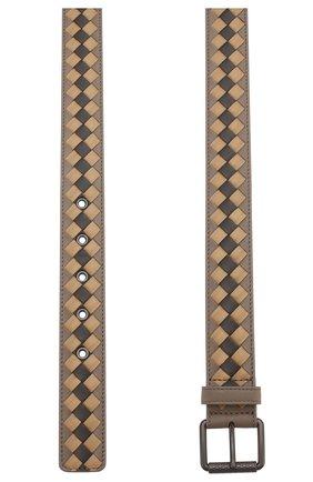Мужской кожаный ремень BOTTEGA VENETA серого цвета, арт. 547392/VBNH1 | Фото 2
