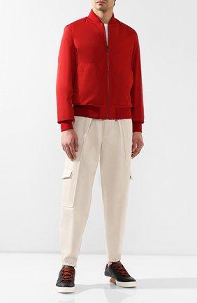 Мужские кожаные кеды tiziano ZEGNA COUTURE белого цвета, арт. A4005X-SWY | Фото 2