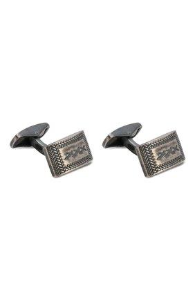 Мужские серебряные запонки ERMENEGILDO ZEGNA темно-серого цвета, арт. ZCL0999 | Фото 1
