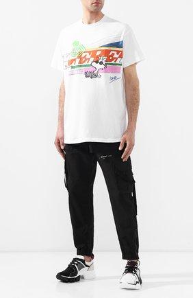 Мужская хлопковая футболка ICEBERG белого цвета, арт. 19E I1S0/F032/4157 | Фото 2
