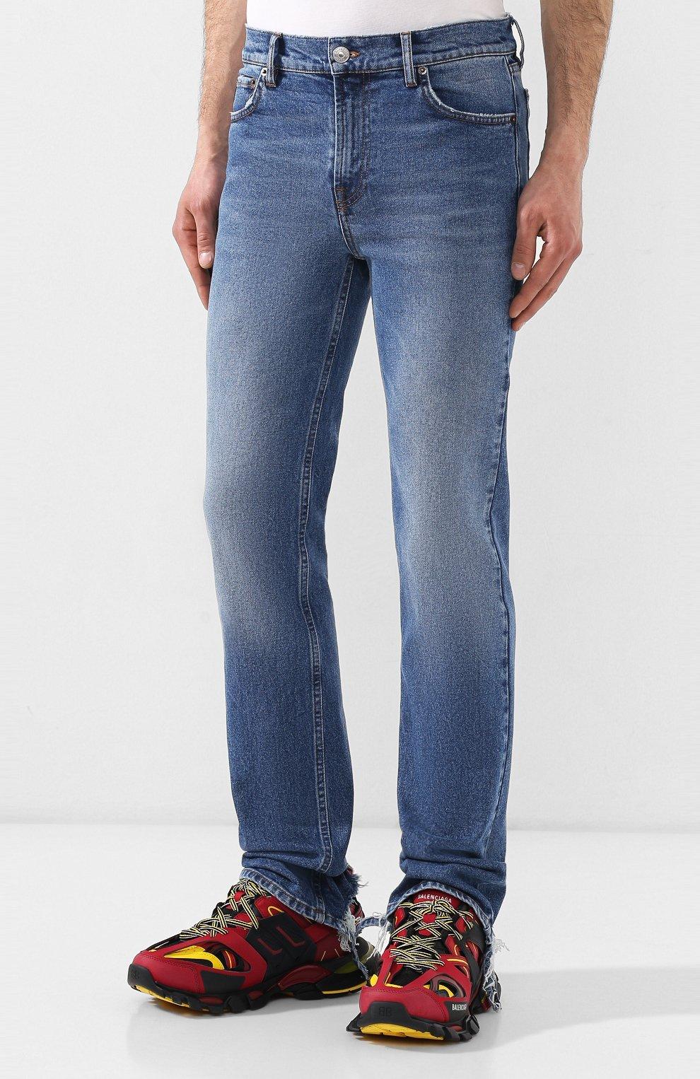Мужские джинсы BALENCIAGA голубого цвета, арт. 571423/TEW08 | Фото 3