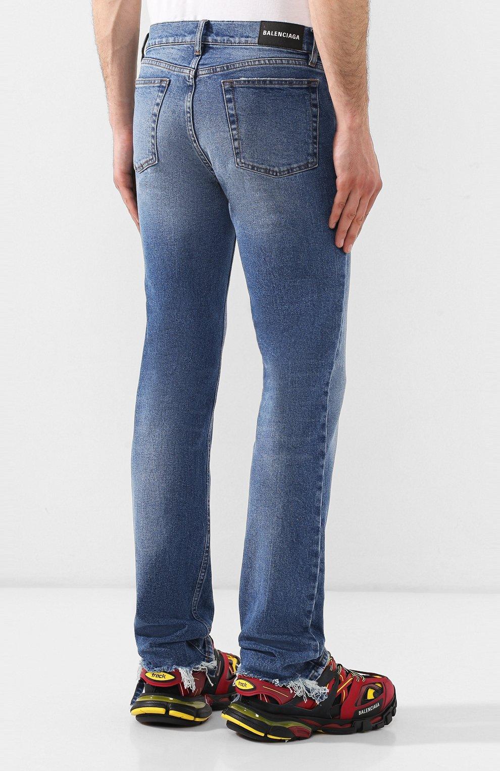 Мужские джинсы BALENCIAGA голубого цвета, арт. 571423/TEW08 | Фото 4