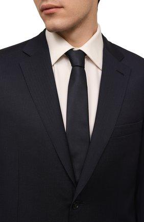 Мужской шелковый галстук GIORGIO ARMANI синего цвета, арт. 360054/8P999 | Фото 2