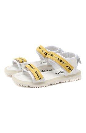 Детские кожаные сандалии JOG DOG желтого цвета, арт. LISB0NA08R/LEATHER/30-35 | Фото 1