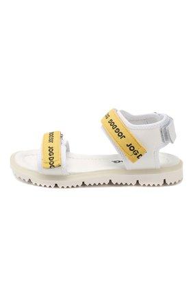 Детские кожаные сандалии JOG DOG желтого цвета, арт. LISB0NA08R/LEATHER/30-35   Фото 2