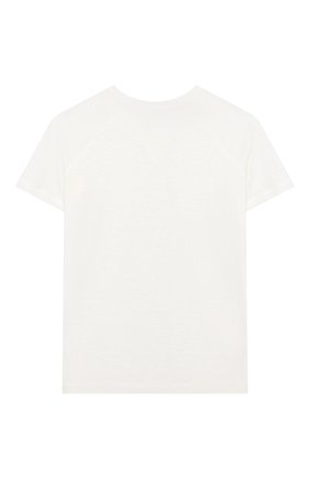 Детская льняная футболка LORO PIANA белого цвета, арт. FAG2005 | Фото 2