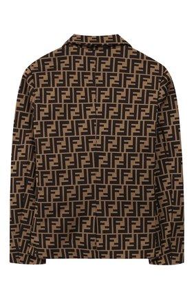 Детский хлопковый пиджак FENDI коричневого цвета, арт. JMA137/A6A6/6A-8A | Фото 2