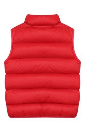Детский пуховый жилет FENDI красного цвета, арт. JUA051/A4RT/3A-5A | Фото 2