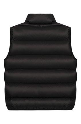 Детский пуховый жилет FENDI черного цвета, арт. JUA051/A4RT/6A-8A | Фото 2