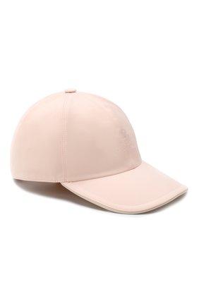 Детская бейсболка LORO PIANA розового цвета, арт. FAE8580 | Фото 1