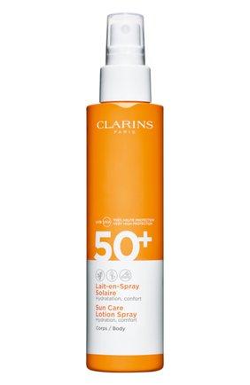 Женский солнцезащитное молочко-спрей для тела spf 50+ CLARINS бесцветного цвета, арт. 80050665 | Фото 1