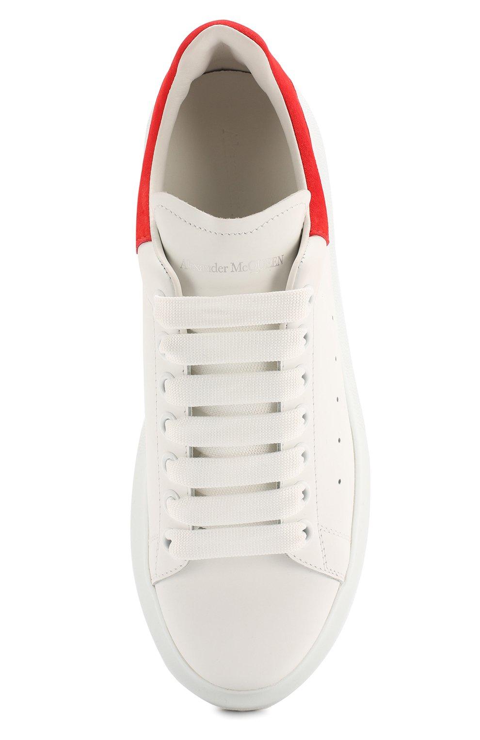 Кожаные кеды Alexander McQueen белые | Фото №5