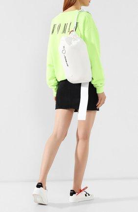 Женский текстильный рюкзак OFF-WHITE белого цвета, арт. 0WNA075S190740440100 | Фото 2