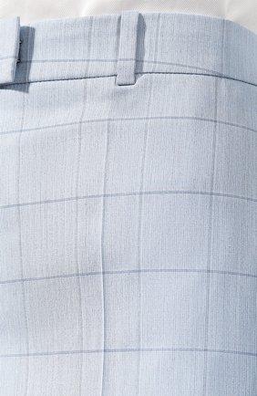 Женские шорты из смеси шерсти и шелка BOSS голубого цвета, арт. 50404758 | Фото 5