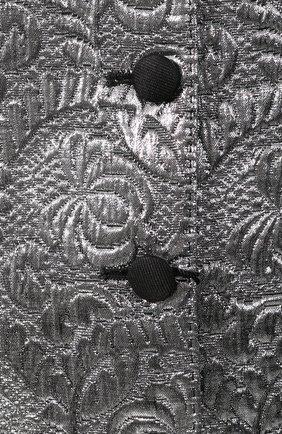 Женский жаккардовый жилет DOLCE & GABBANA серебряного цвета, арт. F79S2T/FJMZ3 | Фото 5