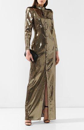 Женское платье-макси RALPH LAUREN золотого цвета, арт. 290748412 | Фото 2