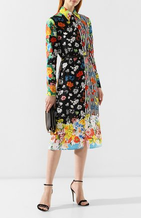 Шелковое платье Versace разноцветное   Фото №2