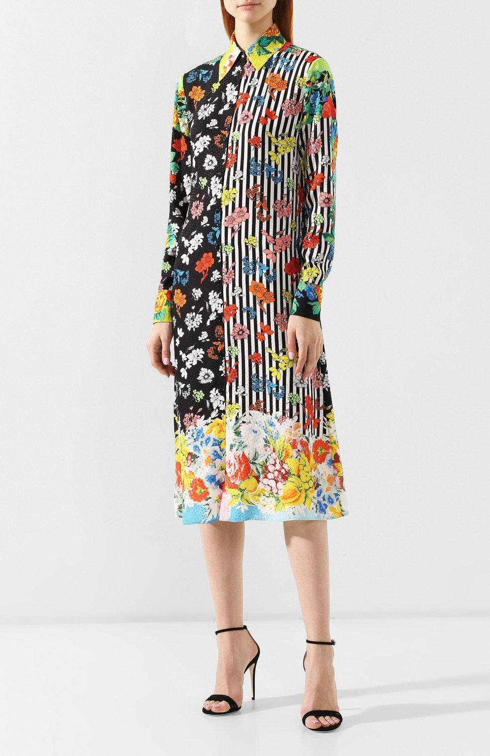Шелковое платье Versace разноцветное   Фото №3