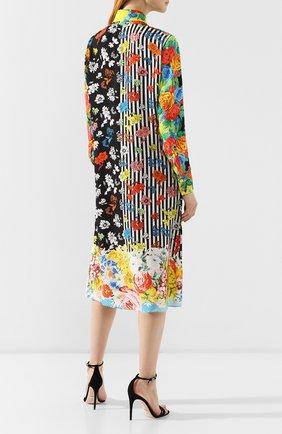 Шелковое платье Versace разноцветное   Фото №4