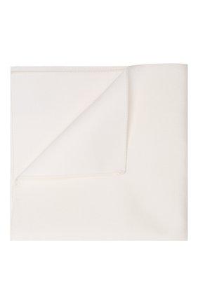 Мужской шелковый платок BOSS белого цвета, арт. 50307917 | Фото 1