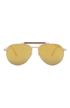 Мужские солнцезащитные очки TOM FORD золотого цвета, арт. TF536 | Фото 2