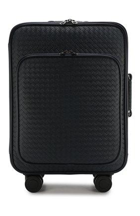 Кожаный дорожный чемодан на колесиках   Фото №1