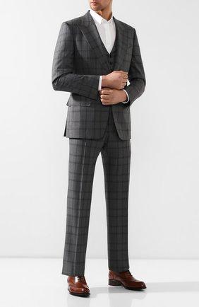 Мужские кожаные оксфорды BRIONI коричневого цвета, арт. QEDS0N/P6757 | Фото 2