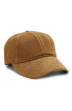 Мужской замшевая бейсболка RRL коричневого цвета, арт. 782713376 | Фото 1