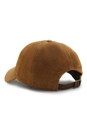 Мужской замшевая бейсболка RRL коричневого цвета, арт. 782713376 | Фото 2