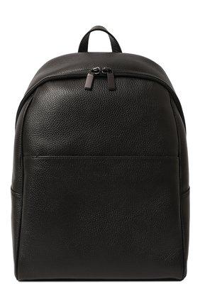 Мужской кожаный рюкзак CANALI черного цвета, арт. P325918/NA00051 | Фото 1