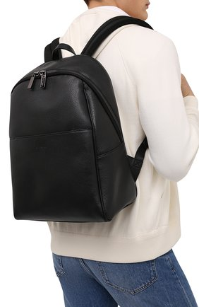 Мужской кожаный рюкзак CANALI черного цвета, арт. P325918/NA00051 | Фото 2