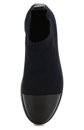 Мужские комбинированные кроссовки GIORGIO ARMANI темно-синего цвета, арт. X2J118/XL907   Фото 5