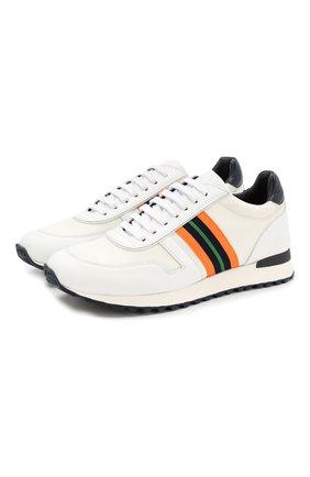 Мужские кожаные кроссовки RALPH LAUREN белого цвета, арт. 815742243 | Фото 1