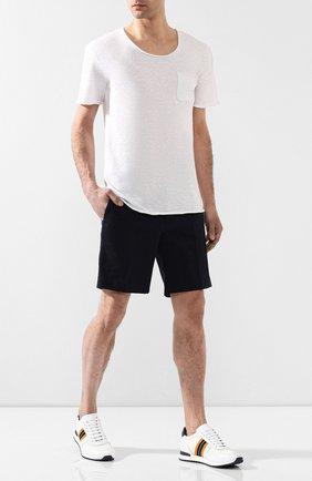 Мужские кожаные кроссовки RALPH LAUREN разноцветного цвета, арт. 815742243 | Фото 2