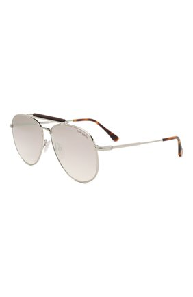 Мужские солнцезащитные очки TOM FORD серебряного цвета, арт. TF536 | Фото 1