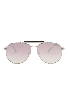 Мужские солнцезащитные очки TOM FORD серебряного цвета, арт. TF536 | Фото 2