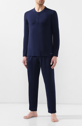 Мужская пижама ERMENEGILDO ZEGNA синего цвета, арт. N6H030780 | Фото 1