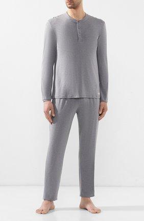 Мужская пижама ERMENEGILDO ZEGNA серого цвета, арт. N6H030780 | Фото 1