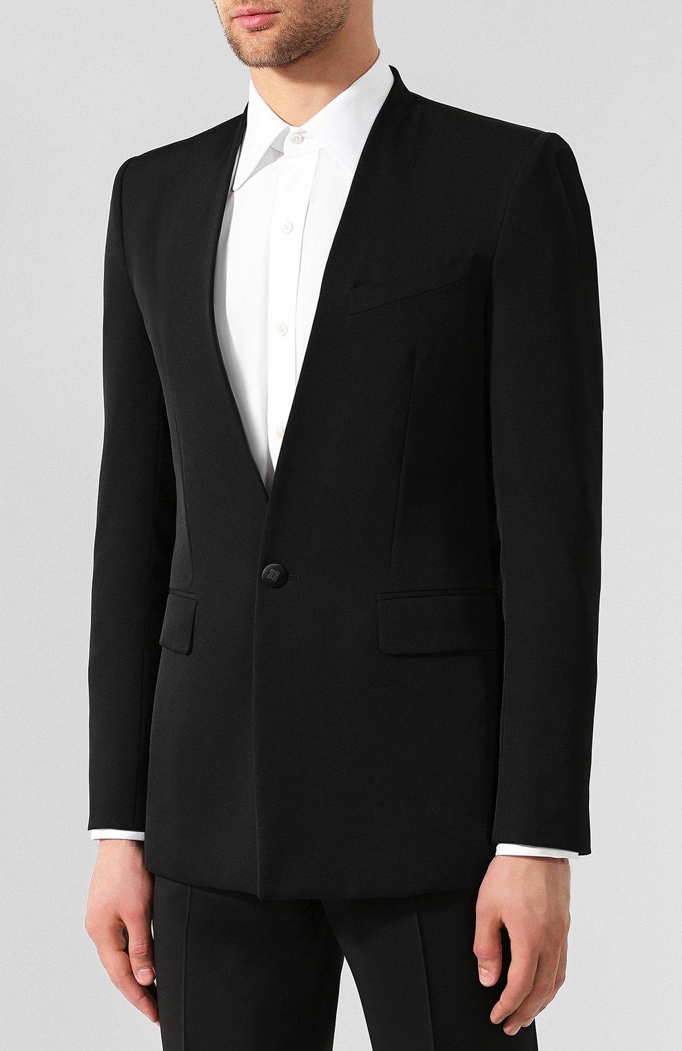 Шерстяной пиджак Givenchy черный | Фото №3