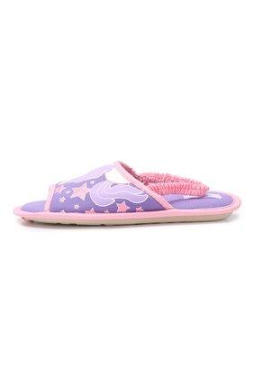 Детского текстильная домашняя обувь DE FONSECA сиреневого цвета, арт. BARI G503RU   Фото 2 (Материал внешний: Текстиль; Кросс-КТ: тапочки; Статус проверки: Проверено, Проверена категория)