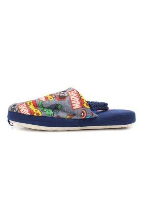 Детского текстильная домашняя обувь DE FONSECA серого цвета, арт. ROMA K573RU   Фото 2 (Статус проверки: Проверено; Материал внешний: Текстиль; Кросс-КТ: тапочки)