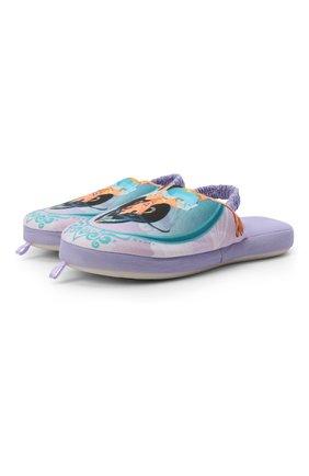 Детского текстильная домашняя обувь DE FONSECA сиреневого цвета, арт. ROMA G571RU   Фото 1 (Статус проверки: Проверена категория, Проверено; Кросс-КТ: тапочки)