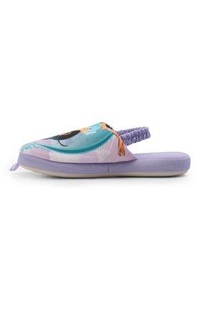 Детского текстильная домашняя обувь DE FONSECA сиреневого цвета, арт. ROMA G571RU   Фото 2 (Статус проверки: Проверена категория, Проверено; Кросс-КТ: тапочки)